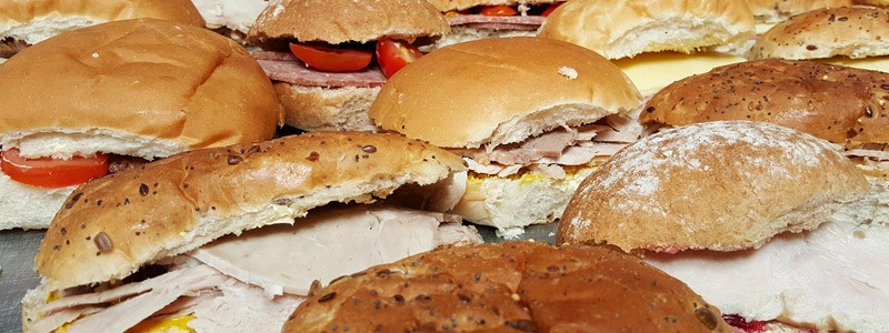 Meat & Vegetarian Filled Rolls and Sandwiches